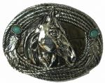 Stetson Midnight German Silver Plated Belt Buckle